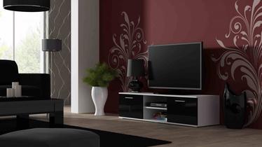 ТВ стол Cama Meble Soho 140, белый/черный, 1400x430x370 мм