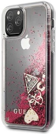 Guess Glitter Hearts Back Case For Apple iPhone 11 Pro Red