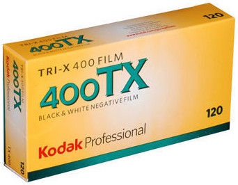 Foto lente Kodak Professional TRI-X 400 Black and White Negative 120 Roll Film