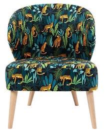 Atzveltnes krēsls Black Red White Garita, daudzkrāsains, 60 cm x 70 cm x 77 cm