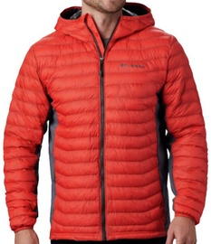 Columbia Powder Pass Hooded Mens Jacket 1773271845 Red/Grey XL