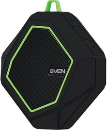 Bezvadu skaļrunis Sven PS-77 Black/Green, 5 W