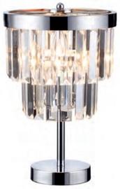Light Prestige Vetro Desk Lamp 60W E14 Silver