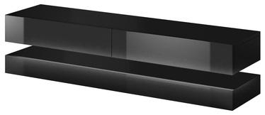 ТВ стол Vivaldi Meble Fly, черный, 1400x338x350 мм
