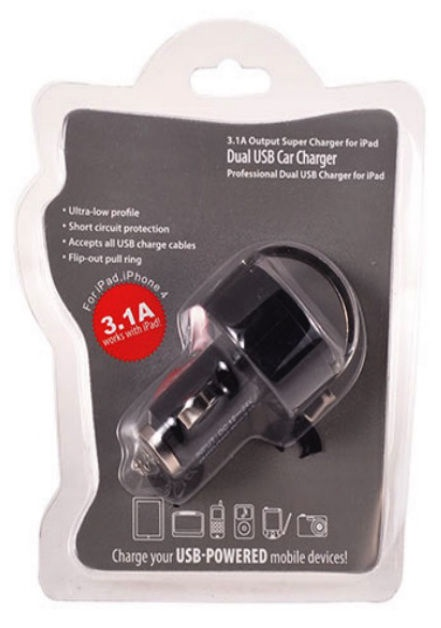 HQ Universal USB Car Charger Black