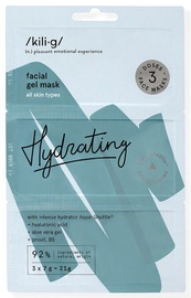 KILIG HYDRATING intensīvi mitrinošs sejas gels maska, 3 x 7 g