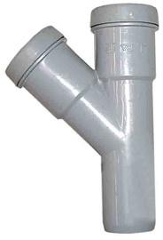 Kanalizācijas caurules trejgabals Wavin D50mm, 45°, PVC