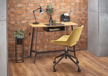 Halmar B40 Desk Golden Oak/Black