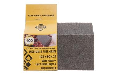 Slīpēšanas sūklis Forte Tools, NR100, 125x90x26 mm, 1 gab.