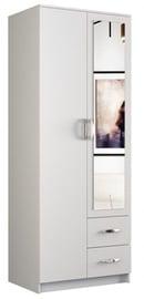 Гардероб Top E Shop Romana White, 80x52x205 см, с зеркалом