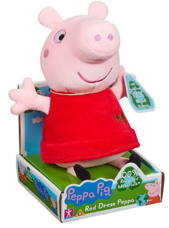 Mīkstā rotaļlieta Character Toys Peppa Pig Red Dress Peppa PEP07356, sarkana/rozā, 20 cm