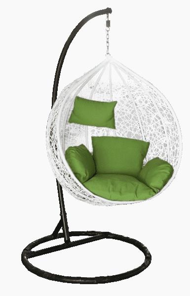 Dārza krēsls Besk Bubble 118121, balta/melna, stāvošs