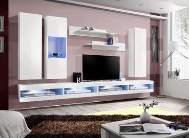 ASM Fly Q10 Living Room Wall Unit Set White