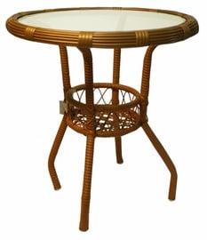 Dārza galds Diana Wicker Brown, 54 x 54 x 53 cm