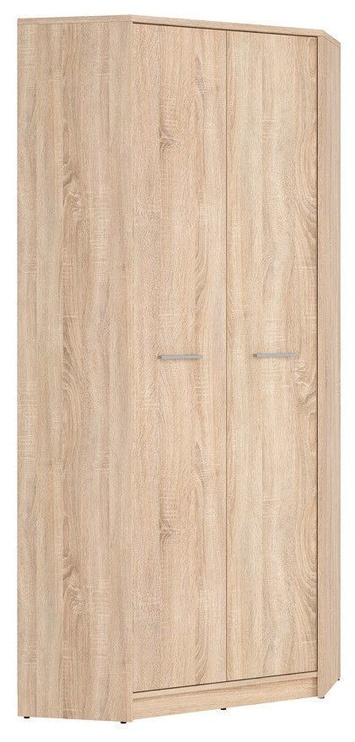Skapis Black Red White Nepo Plus Sonoma Oak, 79.5x79.5x197 cm