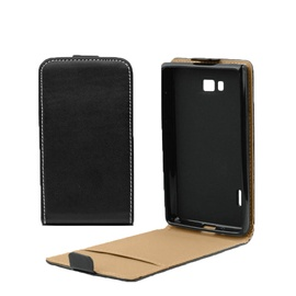 Forcell Slim 2 Flip For Nokia 625 Lumia Vertical Case In Plastic Holder Black