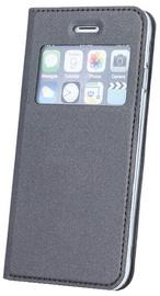 Blun Premium Matt Eco-leather Smart S-View Book Case For Xiaomi Redmi Note 4/4X Grey