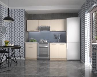 Virtuves komplekts Halmar Marija, balta/smilškrāsas/ozola, 2 m