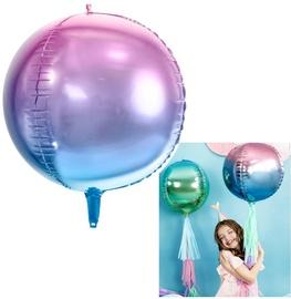 PartyDeco Folijas balons, 35 cm, ombre zils/violets