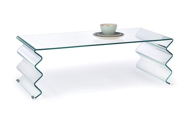 Kafijas galdiņš Halmar Roxana Transparent, 1200x600x420 mm