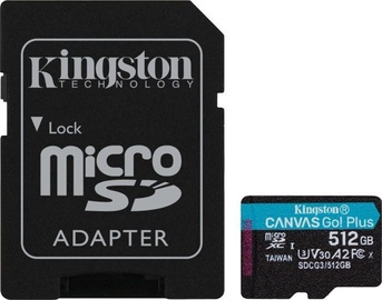 Kingston Canvas Go! Plus 512GB microSDXC UHS-I Class10 w/Adapter