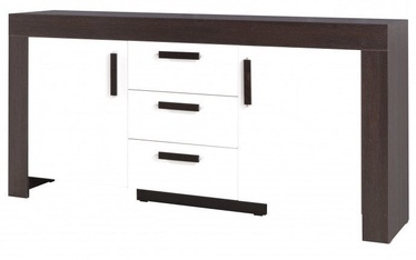 Jurek Meble Cezar Chest Of Drawers Reg13 Dark Brown/ White