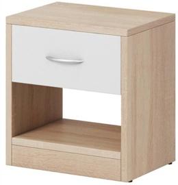 Ночной столик WIPMEB Naka 1S, белый/дубовый, 39x28x41 см