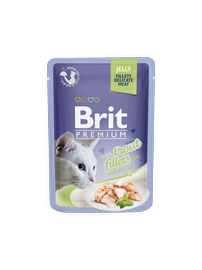 Влажный корм для кошек (консервы) Brit Premium Trout Fillets In Jelly 85g
