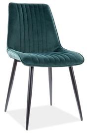 Ēdamistabas krēsls Signal Meble Modern Kim Velvet, zaļa