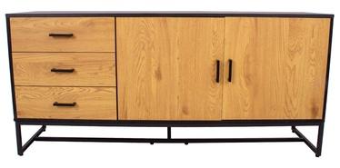 Kumode Home4you Amsterdam 45033, melna, 160x40x75 cm