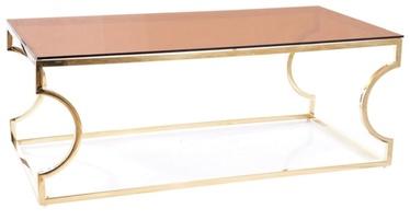 Kafijas galdiņš Signal Meble Modern Kenzo A, zelta, 1200x600x400 mm