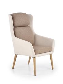 Atzveltnes krēsls Halmar Purio Beige/Brown, 75x67x103 cm