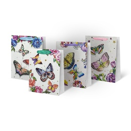 Paper Gift Bag With Butterflies 31x12x40cm SCW308-ABCD-L