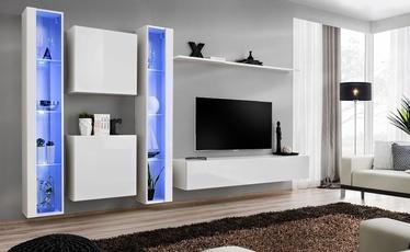 Dzīvojamās istabas mēbeļu komplekts ASM Switch XVI White