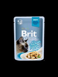 Пищевые добавки, витамины для кошек Brit Premium Chicken Fillets In Gravy 85g