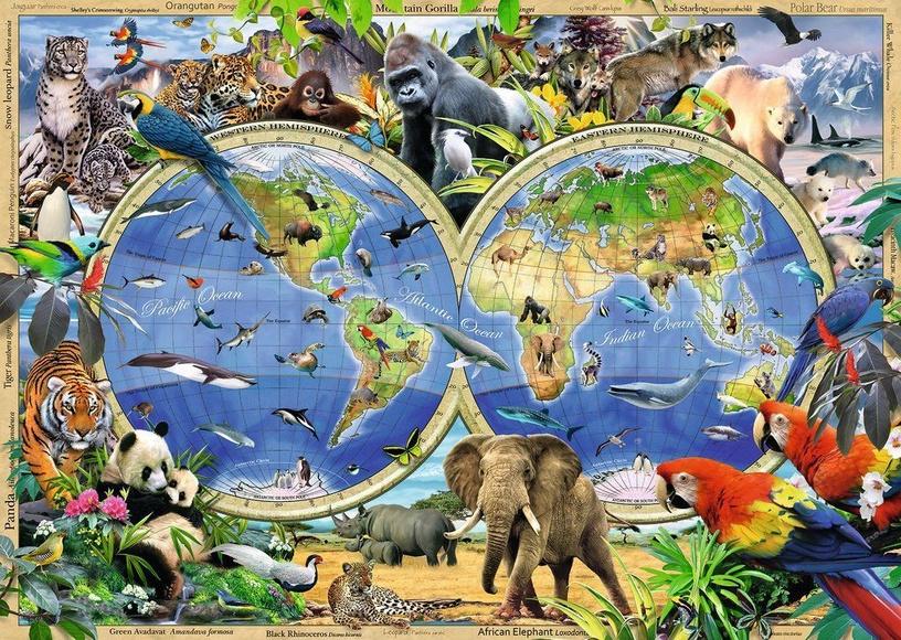 Пазл Ravensburger World Of Wildlife 19385, 1000 шт.