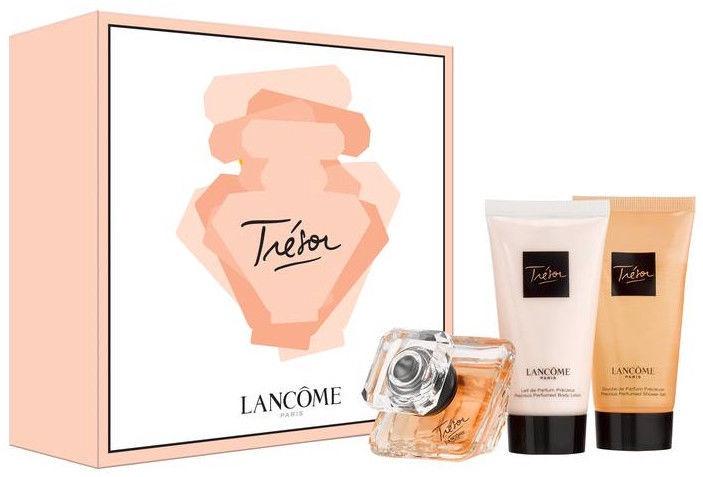 Lancome Tresor 50ml EDP + 50ml Shower Gel + 50ml Body Lotion 2018