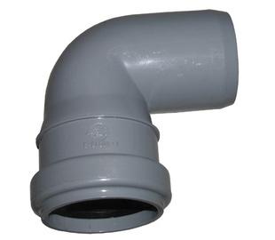 Wavin Elbow Pipe Optima Grey 88° 50mm