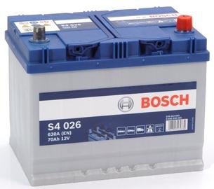 Akumulators Bosch S4 026, 12 V, 70 Ah, 630 A