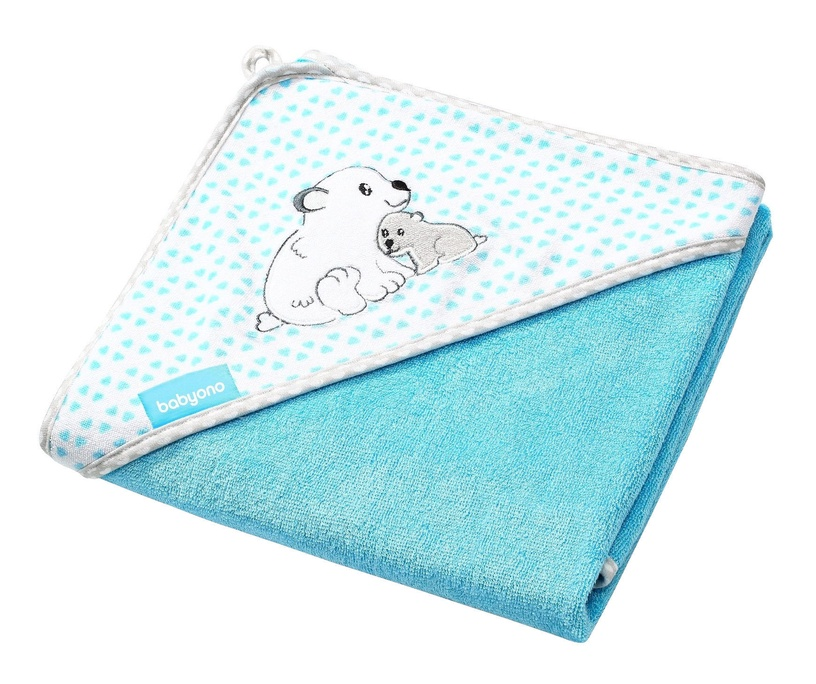 Полотенце BabyOno Hooded 345/02 Blue, 76x76 см, 1 шт.