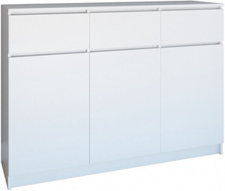 Top E Shop Chest of 3 Doors 3 Drawers Mat White