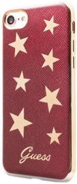 Guess Stars Design Ultra Thin Back Case For Apple iPhone 7 Red/Gold