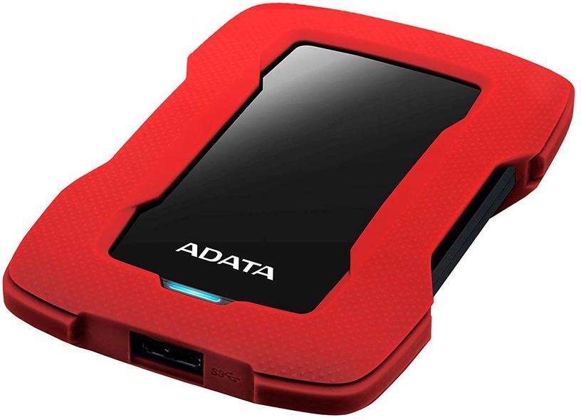 Cietais disks ADATA HD330, HDD, 1 TB, sarkana