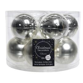 Ziemassvētku eglītes rotaļlieta 9140132, sudraba, 60 mm, 10 gab.
