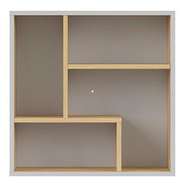 Black Red White Nandu Shelf 56x56x22cm Gray/Oak