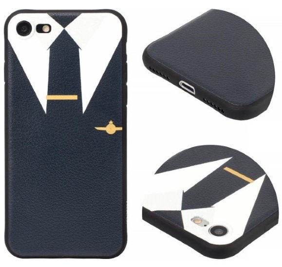 Hoco Cool Colored Suit Back Case For Apple iPhone 7/8 Black/White