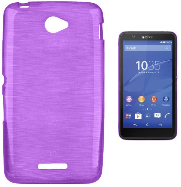 Forcell Jelly Brush Back Case For Sony E2104/E2105 Xperia E4 White
