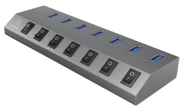 Raidsonic 7 Port USB 3.0 Hub + Charger