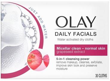 Sejas tīrīšanas līdzeklis Olay Daily Facials Water-Activated Dry Cloths