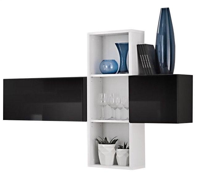 ASM Blox SB I Hanging Cabinet Set Black/White